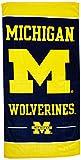 NCAA University of Michigan A1861515 Fiber Beach Towel, 9 lb/30