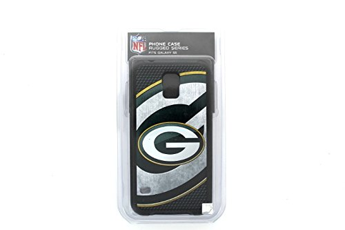 Green Bay Packers Rugged Case for Samsung Galaxy S 5 Cell Phones - Black/Green/Gold/White from National Cellular