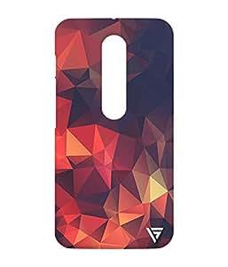 Vogueshell Triangle Pattern Printed Symmetry PRO Series Hard Back Case for Motorola Moto G Turbo