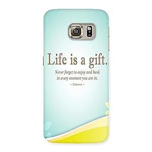 AJAYENTERPRISES Life Gift Back Case Cover for Samsung Galaxy S6 Edge