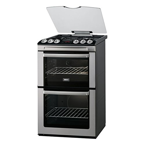 Zanussi ZCG552GXC 550mm Double Gas Cooker Gas Grill S\/Steel