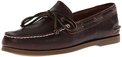 Sperry Top-Sider Men's Authentic Original 1 Eye Boat Shoe,Dark Brown,7 M US