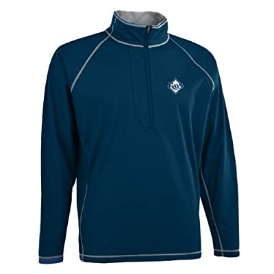 MLB Men's Tampa Bay Rays Shadow 1/2 Zip Pullover