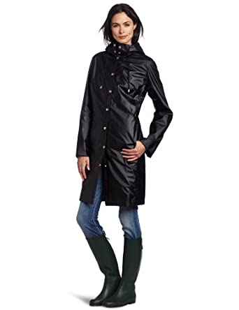 ILSE JACOBSEN Women's RAIN 01 Waterproof Rain Coat, Black, X-Small