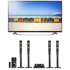 LG 49UF8509 123 cm (49 Zoll) Ultra HD Fernseher + LG LHA855W 5.1 3D Blu-ray Heimkinosystem