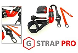 RED G-STRAP PRO Home Gym Fitness Trainer (1300 LB SUPPORTED, 6 COLORS) BEST QUALITY GUARANTEED, Resistance Suspension Workout Training, WARRANTY