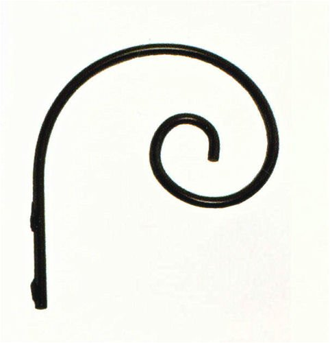 Kitras Art Glass ~ WROUGHT IRON - WALL HOOK ~ 6 INCH - for Hand-Blown Art Glass-Ornaments - DR-IRON-WH-BL