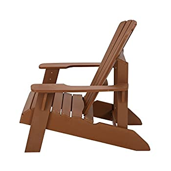 ... Lifetime Faux Wood Adirondack Chair, Light Brown   60064 ...