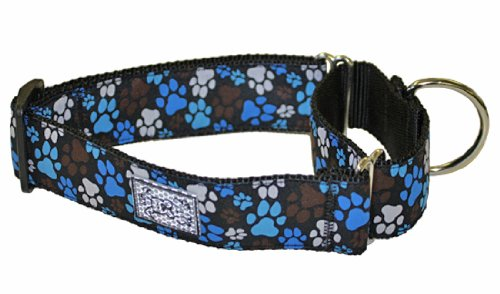 RC Pet Products 1-1/2-Inch All Webbing Martingale Dog Collar, Medium, Pitter Patter Chocolate