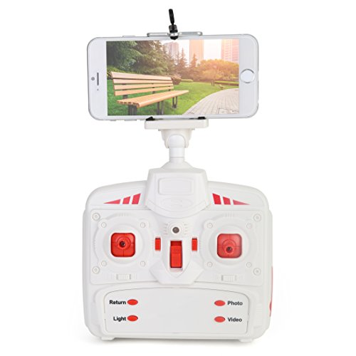 Ivation Rechargeable Remote-Controlled Quadcopter Drone with 2MP