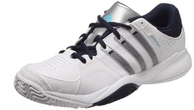 adidas Ambition Vii Stripes, Chaussure de tennis homme - Blanc (Blanc/argm t/navcol), 44 EU