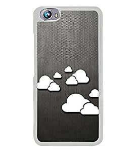 Clouds Pattern 2D Hard Polycarbonate Designer Back Case Cover for Micromax Canvas Fire 4 A107