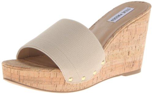 Steve Madden Women'S Gibby Wedge Sandal,Natural,7.5 M Us front-898442