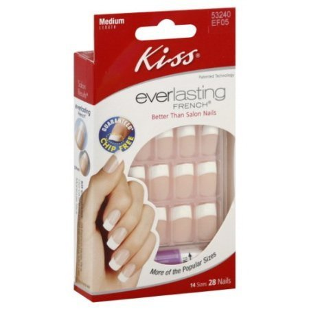 Kiss Kit d'ongles artificiels Everlasting French - Sans écaillage - Coloris Infinite (Lot de 2)
