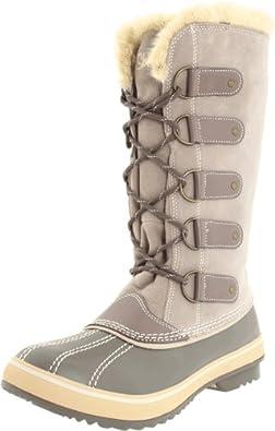 Skechers Women's Highlanders-Glaciers Knee-High Boot,Taupe,6.5 M US