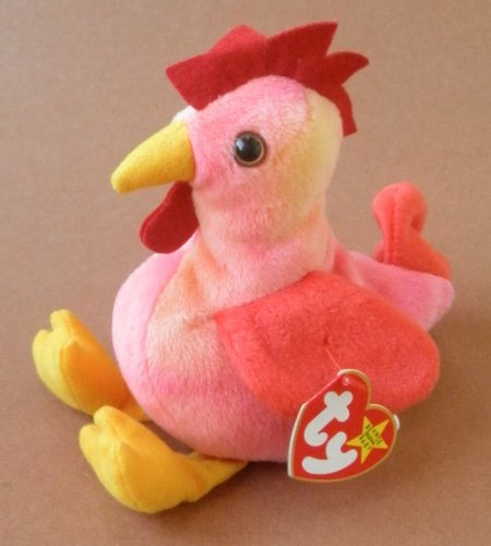 TY Beanie Babies Strut the Rooster Plush Toy Stuffed Animal by Unknown