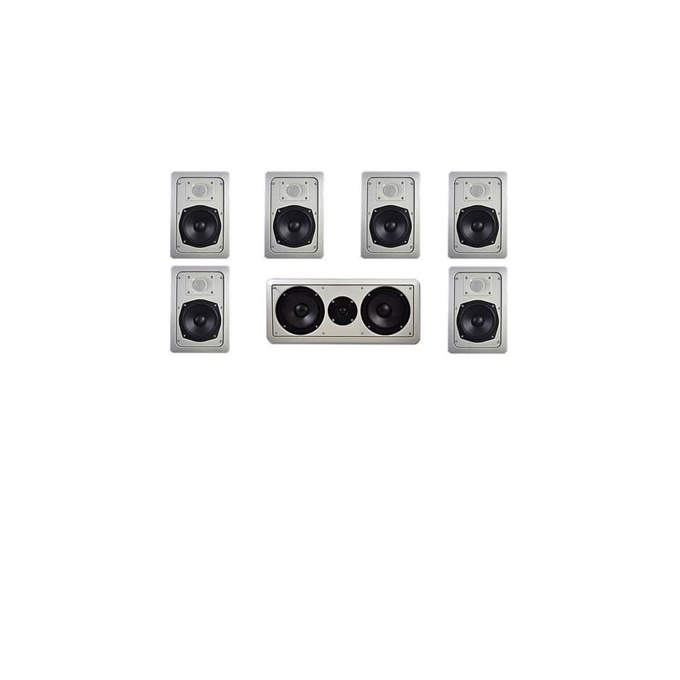 IW191 3 Pair of 5.25 In Wall Ceiling Speakers & 300 Watt Center Channel