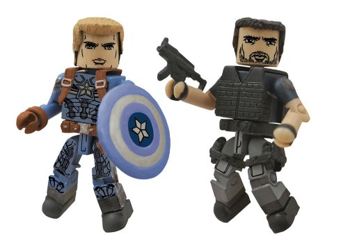 Diamond Select Toys Marvel Minimates Series 55 Captain America The Winter Soldier Stealth Uniform Captain America & Crossbones Action Figure (2-Pack)