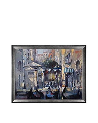Alex Bertaina La Maison Des Gondoliers Framed Canvas Print