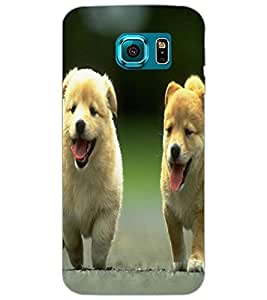SAMSUNG GALAXY S6 PUPPIES Back Cover by PRINTSWAG