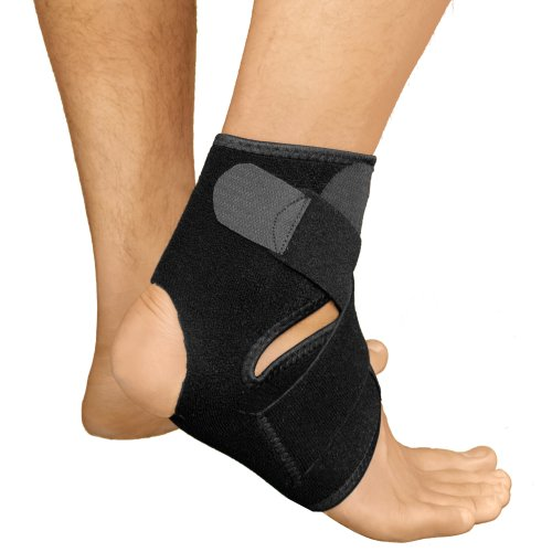 Bracoo Breathable Neoprene Ankle Support, One Size, Black