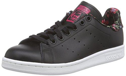 Adidas Stan Smith W Scarpe sportive, Donna, Multicolore (Core Black/Core Black/Vivid Berry S14), Taglia 40.7
