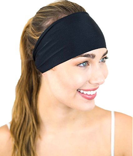 FITNESS FOX Headband, Workout Yoga Crossfit Headband Slip Resistant Sweat Absorbent 4