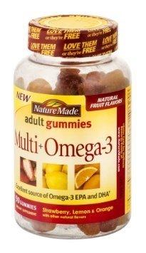 Nature Made Adult Gummies Multi Plus Omega-3 90's (Pack of 3) (Nature Made Multi Adult Gummies compare prices)