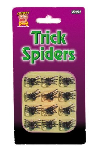Smiffy's 12 Spiders (Small)