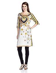 Juniper Women's Straight Kurta (30701_Yellow_XX-Large)