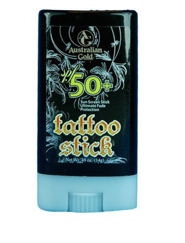 Australian Gold SPF 50 Tattoo Stick Fade Protection . spf50