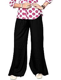 RK Exports Women's Black Color Lycra Palazzo Long Pants