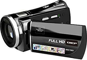 Sharper Image HD920 Touch Screen 1080P HD Camcorder, 5.0 MP CMOS, Motion Detection, 3-Inch Touch Screen LCD, 5X Optical Zoom, Built-in Voice Recorder, Expandable up to 32 GB