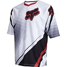 Fox Men's 360 Short Sleeve Jersey White/Red Large