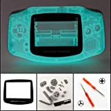 New Full Housing Shell Cover Case Pack for Nintendo Gameboy Advance GBA Repair Part-Glow in The Dark (Color: Clear Green)