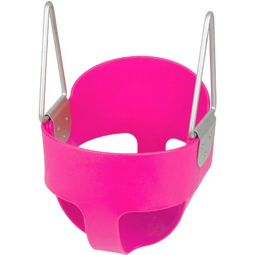 Swing Set Stuff High Back Full Bucket Toddler Infant Swing Seat - Seat Only (Pink) with SSS logo Sticker (Outdoor Commercial Baby Swing compare prices)