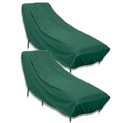 N&B® 2 Stück Gartenliege Abdeckung Allwetter Schützhülle Abdeckplane von Nick and Ben® bei Gartenmöbel von Du und Dein Garten