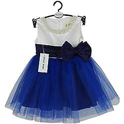 Hello Baby Frock design elegante Abito per feste per neonati, bambini, 1010 Blu blu 12 - 18 mesi