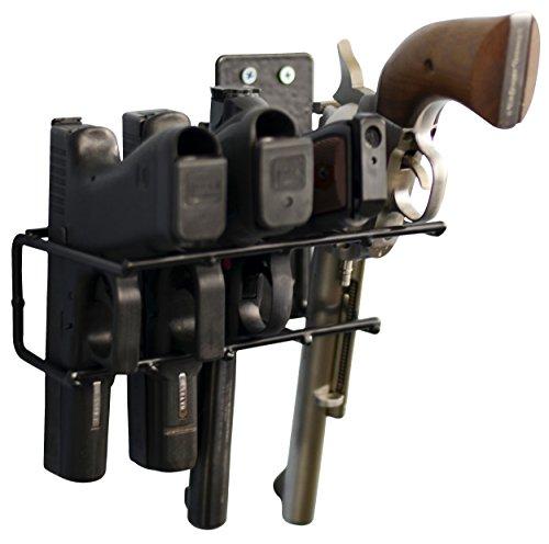 Boomstick Gun Accessories 4 Gun Handgun Black Vinyl Coated Pistol Wall Mount Rack (Handgun Storage Rack compare prices)