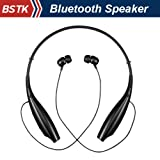 Jiake Wireless Bluetooth A2DP Stereo Music Headset Universal Vibration Neckband Style HBS-700 Earphone for Mobile Phones / Samsung Galaxy S4 S5 Note 2 3 / Lg G2 Pro / HTC ONE M7 M8 / Moto X G / Google Nexus 4 5 / Nokia Lumia 1520 1020 /Sony Xperia Z2 Z1 L39h / Iphone 5s 5c / Ipad Air (black)