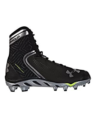 Under Armour Men's UA Spine™ Brawler Mid Football Cleats 9.5 Black