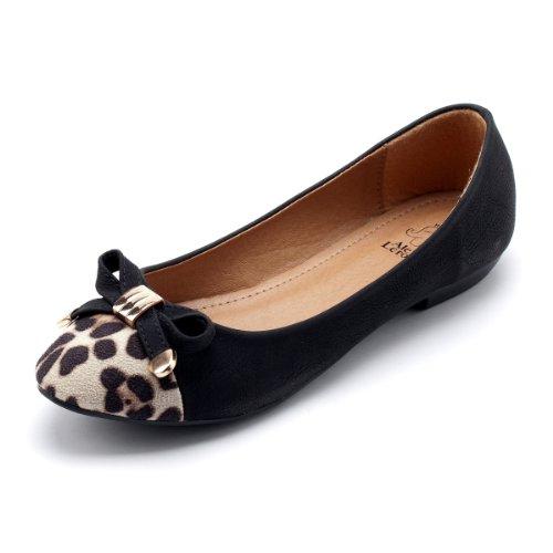 Alexis Leroy Women Sexy Leopard Toe Knots Ballet Flats Shoes
