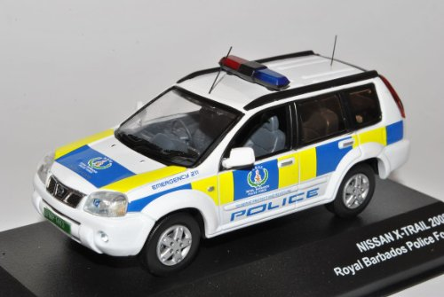 Nissan X-Trail GT T30 Royal Barbados Polizei 2001-2007 1/43 J-Collection Modell Auto