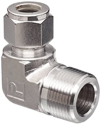 Parker A-Lok 12MSEL12N-316 316 Stainless Steel Compression Tube Fitting, 90 Degree Elbow, Tube OD x NPT Male