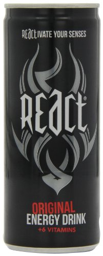 React Energy Drink 250 ml (Pack of 24)