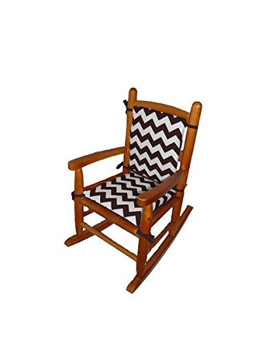 Baby Doll Chevron Junior Rocking Chair Pad, Brown - 1