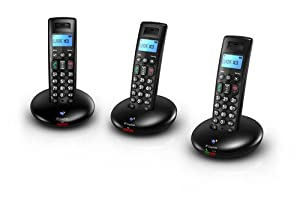 BT Graphite 2100 Trio DECT Digital Cordless Phone - Black