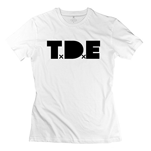 CXY Women's T.D.E Top Dawg Entertainment Black Hippy T-Shirt White [Apparel] (Rock Rival Shorts compare prices)