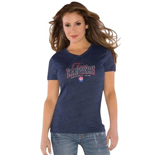 Touch By Alyssa Milano Texas Rangers Ladies Navy Blue