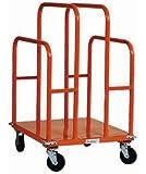 "SPG UC2630-P1 Gillis/Jarke Panel and Lumber Cart, Welded Steel, 1200 lbs Capacity, 30"" Length, 26"" Width, 44-3/4"" Height, 5"" 2-Swivel/2-Rigid Phenolic Wheels"
